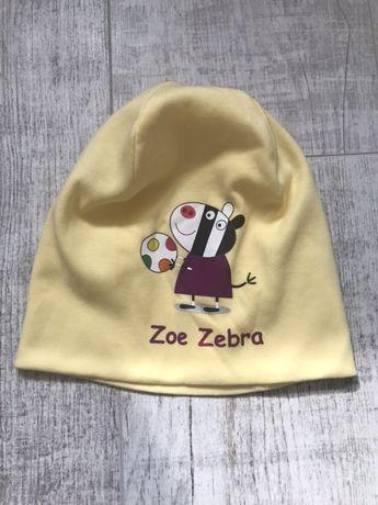 Шапка шапочка свинка Пеппа Peppa зебра Зоя