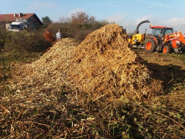 Oddam za darmo biomasę ,zrębkę trociny z pomielonych gałęzi