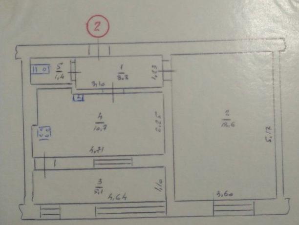 1-но комнатная квартира.