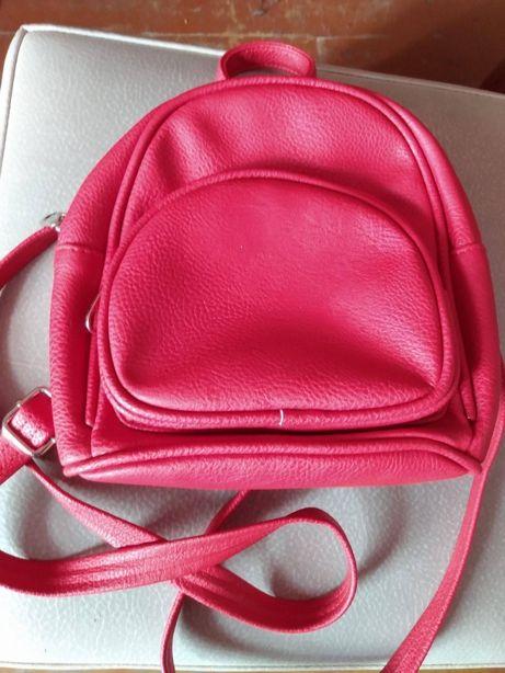 Mały czerwony plecaczek