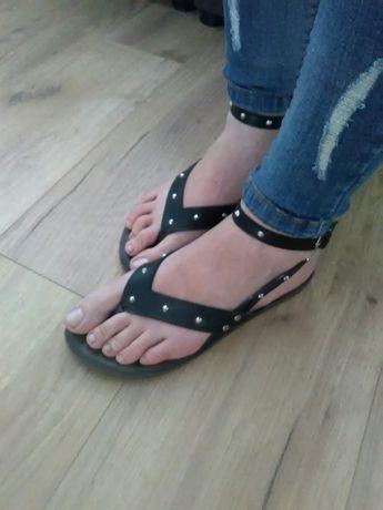 Japonki, sandały brązowe 37