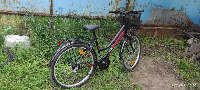 Городской Велосипед Mustang Sport 26 с женской рамой Черно-Красный