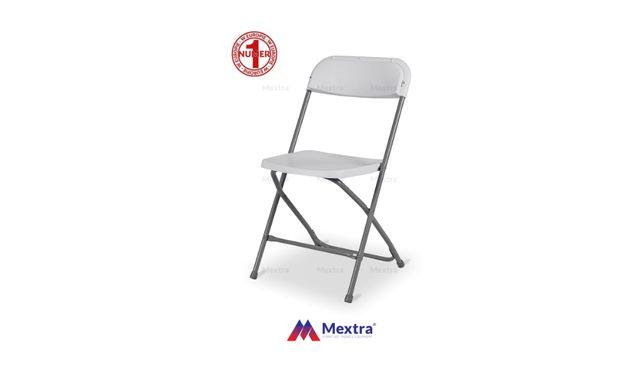 Krzesło krzesła składane cateringowe POLY 7 białe
