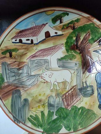 prato em barro pintura alentejana