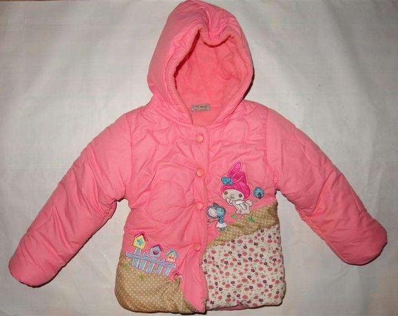 Next zimowa kurtka dziewczęca płaszczyk na zimę kurteczka parka 92 98