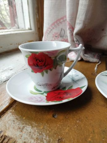 Кофейный набор 2 чашки + 2 блюдца