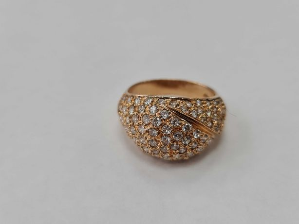 Klasyczny złoty pierścionek damski/ 583/ 6.05 gram/ R16/ Cyrkonie