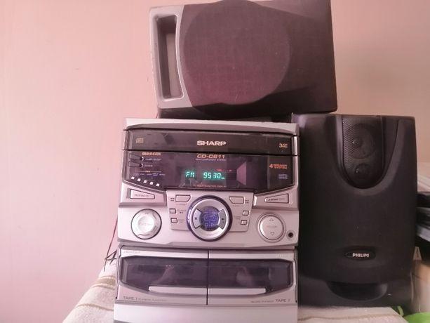 WIEŻA SHARP CD-C611 polecam tanio Radio RDS