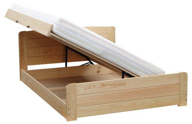łóżko otwierane na bok ze skrzynią i pełnymi szczytami WERSAL 90x200