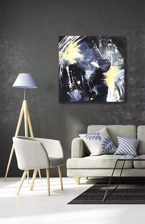 Obraz abstrakcyjny abstrakcja nowoczesny do salonu minimalizm
