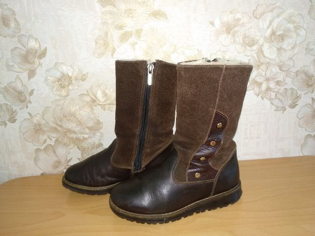 Зимние, зимові чобітки, кожаные сапоги девочке 30р-20см  Берегиня