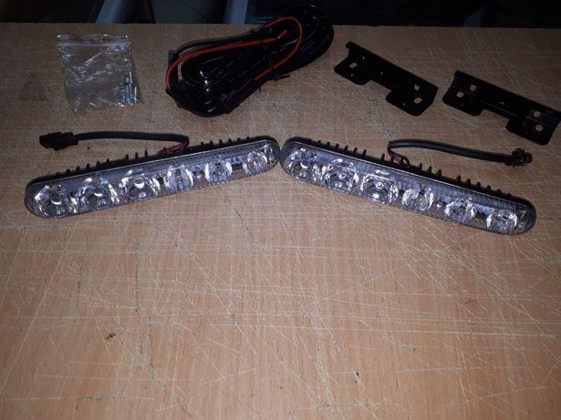 Дневные ходовые огни ДХО/DRL, противотуманные фары, фара 6 LED, 2 шт