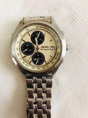 Seiko Vintage Chronograph Quartz 7T32-7C60 Panda Dial
