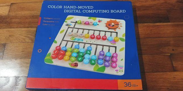 Kolory liczenie zabawka drewniana Montessori