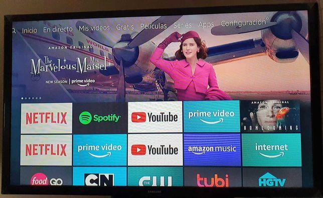 """TV SAMSUNG 32"""" + Fire TV amazon em perfeito estado"""