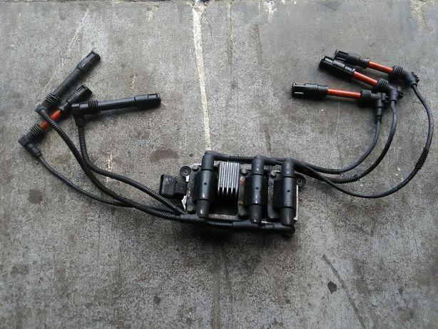 Cewka zapłonowa przewody zapłonowe Audi a6 c5 2.4/2.8 komplet