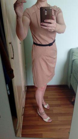 Плаття М - 44 размер, платье бежевое