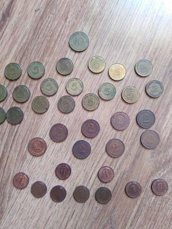 Monety z Rfn 1, 2, 5,10 pfennig