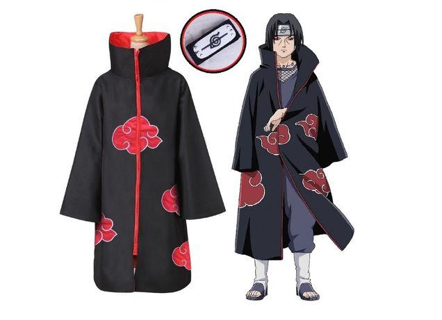 Плащ Акацуки +Бандана / Наруто Итачи Учиха Саске костюм мантия накидка