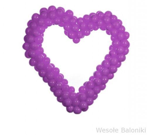 Mega serce metrowe z małych baloników, na urodziny, prezent, dekoracja