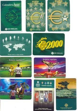 Lote de 300 Calendários de Bolso - Publicidade e Colecções