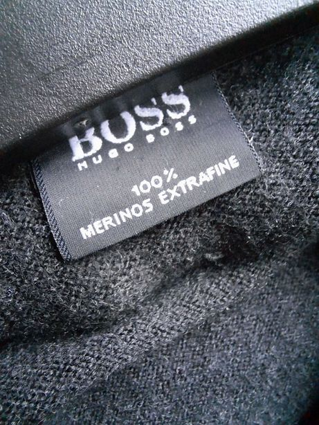 Свитер шерсть мериноса Hugo Boss оригинал 152 158 164 темный графит