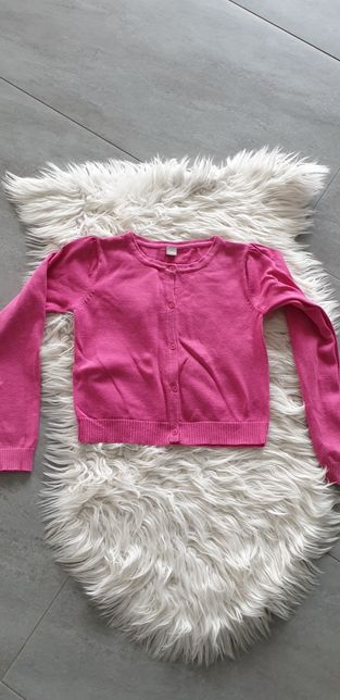 Sweter kardigan różowy