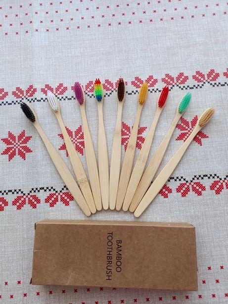 Продам кольорові бамбукові зубні щітки