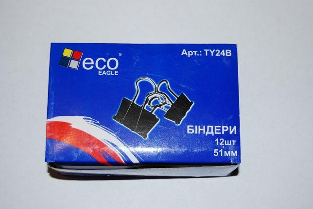 Биндер Eco-Eagle, черный, 51мм, 12 шт в упаковке