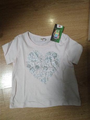 Bluzka dziewczęca T-SHIRT nowa 86 koszulka