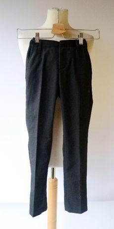 Spodnie Czarne Lindex Garnitur Eleganckie 128 cm 7 8 lat Wizytowe