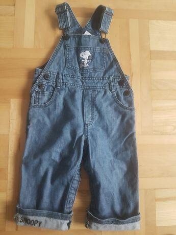 Ogrodniczki hm 74 snoppy jeans