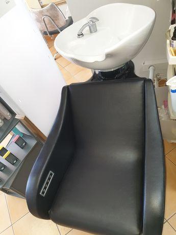 Rampa de lavagem com massagem lombar e elevação de pernas