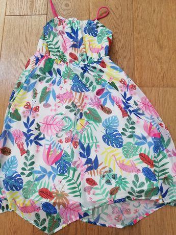 Długa sukienka H&M r. 128
