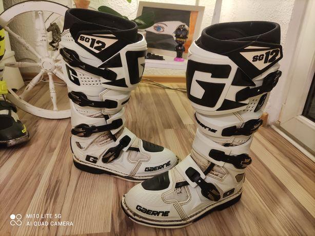 Buty na crossa Gaerne SG 12 rozmiar 44, białalo-czarne stan dobry.