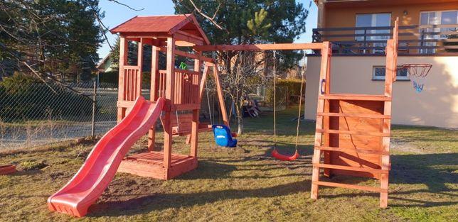 Plac zabaw z drewna duży
