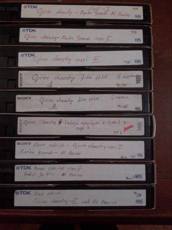 kasety VHS Ojciec Chrzestny cena za całość