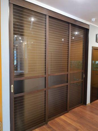 Раздвижные фасады для межкомнатной перегородки или шкафа-купе