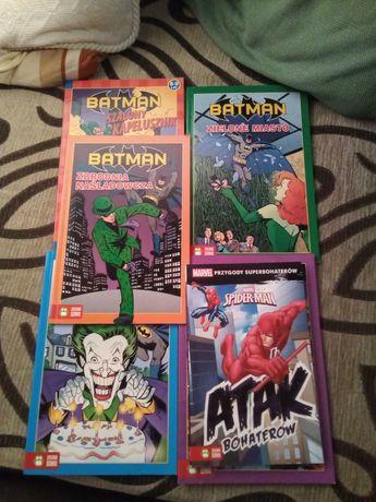 Dla fanów BATMAN SPIDERMAN książki6 sztuk stan bdb DC comics