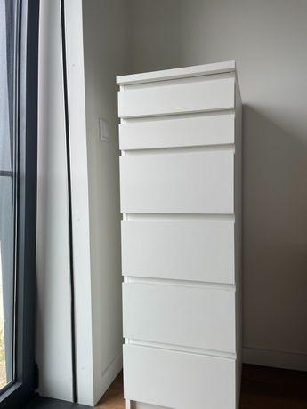 Cómoda Malm Ikea 6 gavetas Branca
