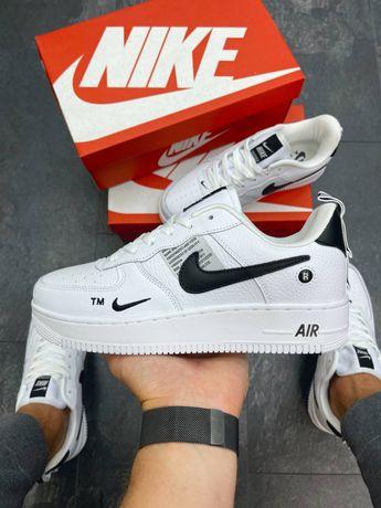 Мужские кроссовки Nike Air Force 1 Utility White Black