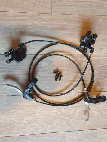 Hamulce tarczowe Tektro Novella mechaniczne z tarczami shimano
