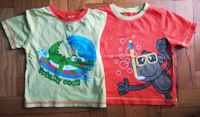 Koszulki na krótki rękaw rozmiar 86cm krokodyl małpka
