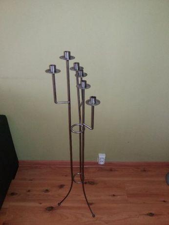 Świecznik metalowy na 6 świec