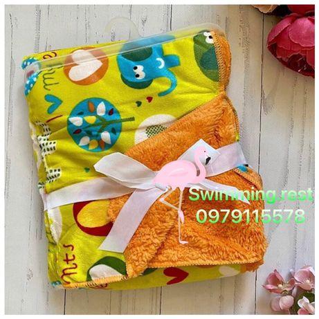 Новинка двухслойный флисовый плед одеяло для малышей