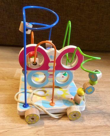 Пальчиковый лабиринт, деревянная игрушка,сортер,каталка Lucy& Leo
