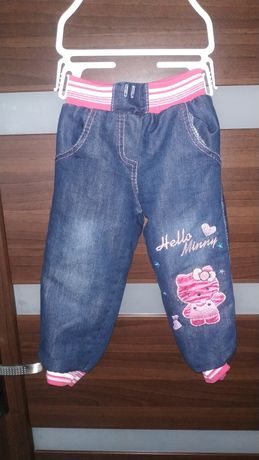 Spodnie jeansy ocieplane na polarku na zimę