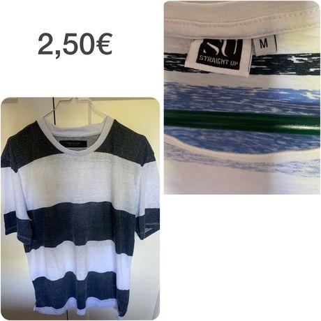 T-shirta homem tamanho e preço nas fotos