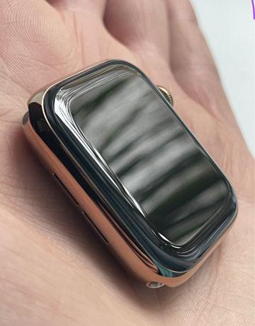Apple watch series 5 44mm stal nierdzewna + cellular złoty