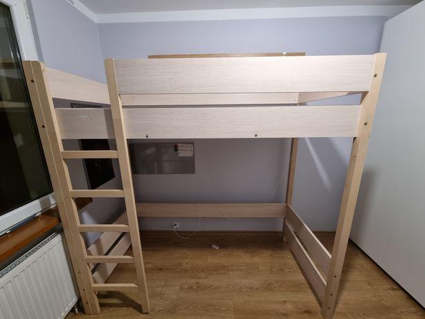 Łóżko piętrowe drewniane 190x90x180 z materacem
